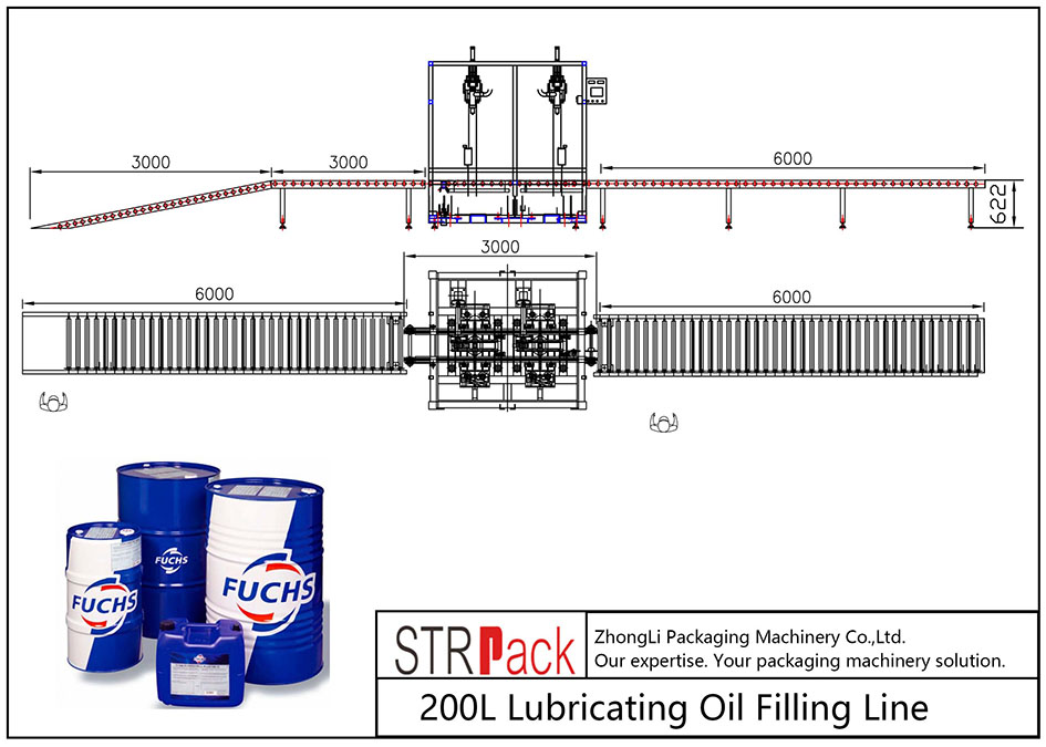 Awtomatikong 200L Lubricating Oil Filling Line
