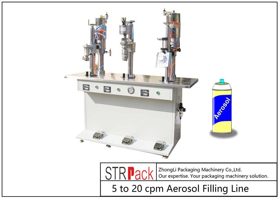 Ang Semi-auto Aerosol Filling Machine