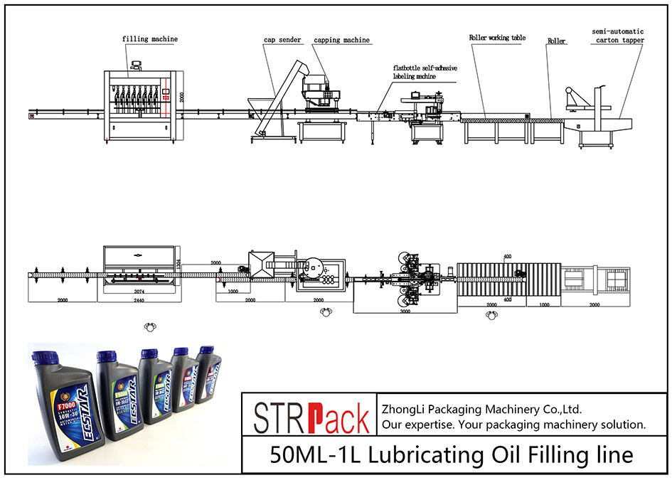 Awtomatikong 50ML-1L Lubricating Oil Filling Line