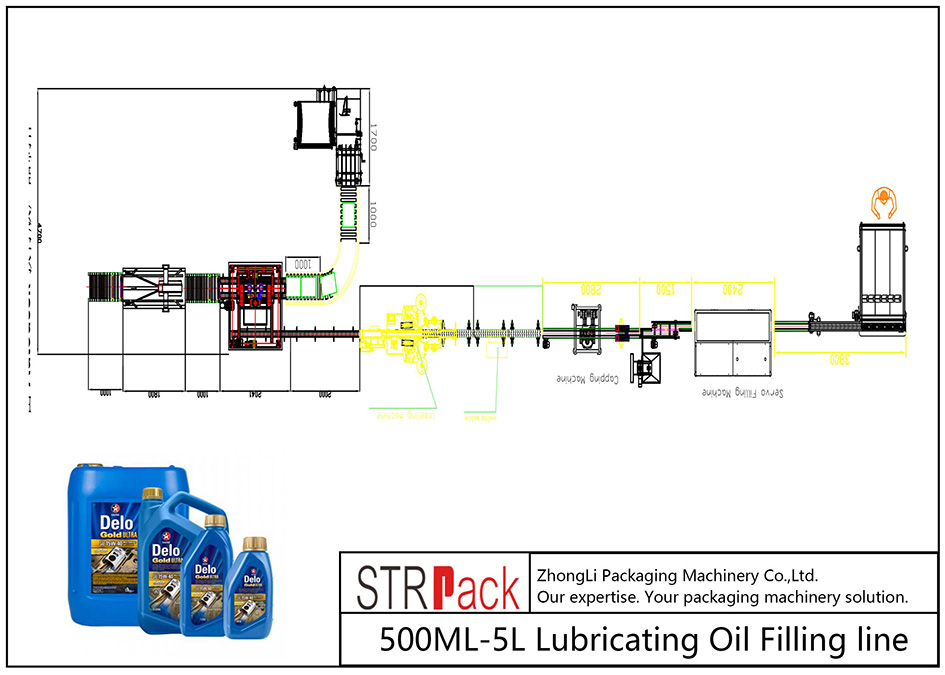 Awtomatikong 500ML-5L Lubricating Oil Filling Line