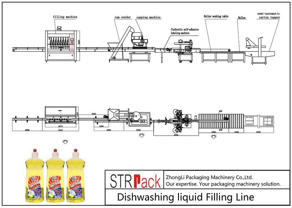 Linya sa Dishwashing Liquid Filling Line