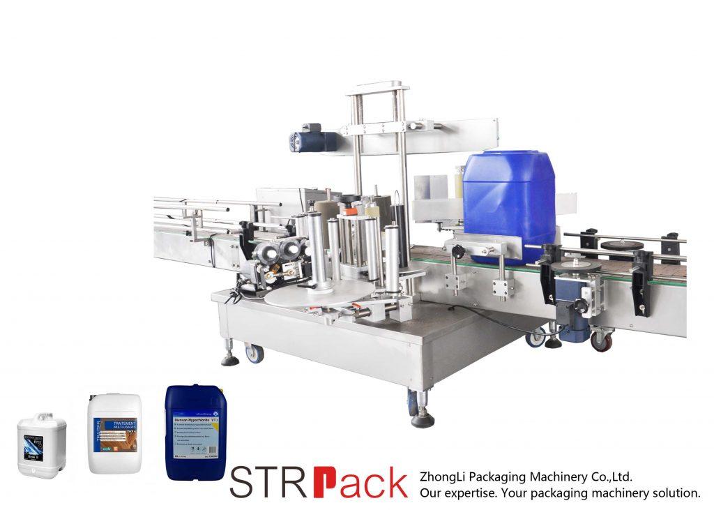 Awtomatikong Double Side Labeling Machine alang sa 5-25L tambol
