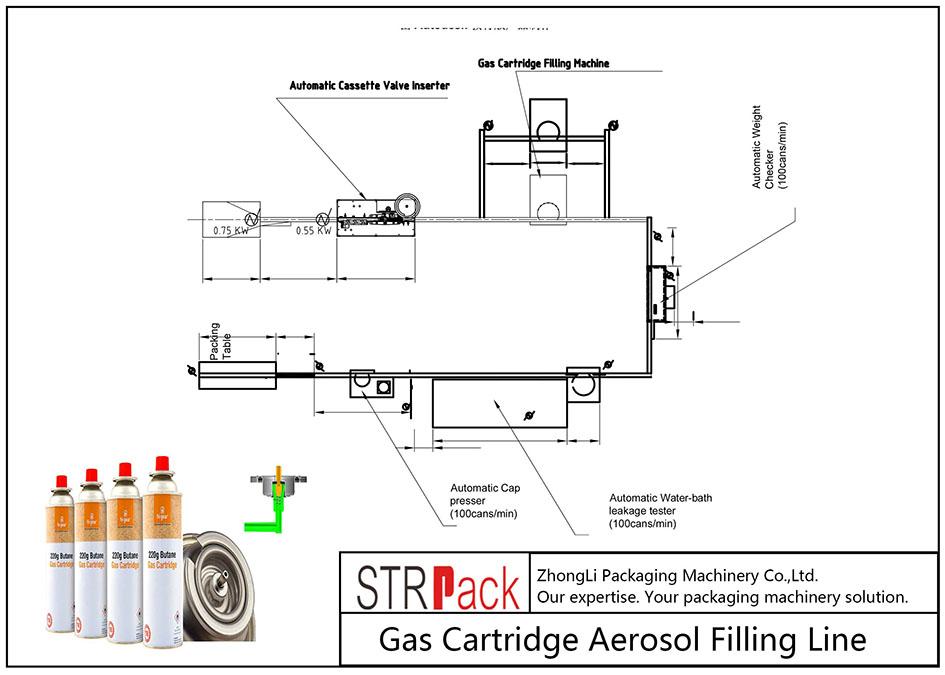 Linya sa Gas Cartridge Aerosol Pagpuno nga Linya