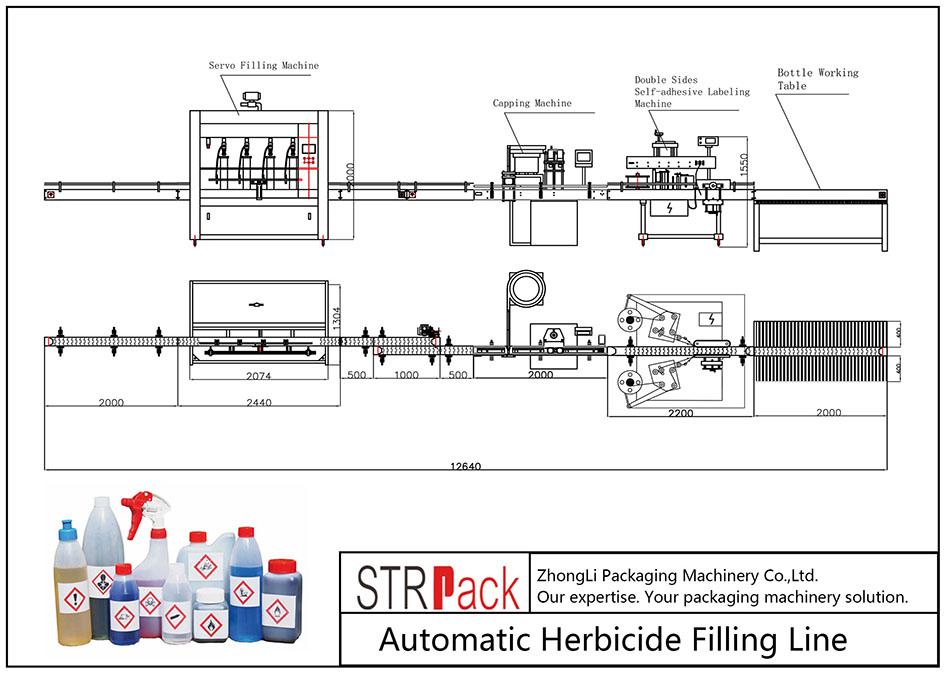 Linya sa pagpuno sa Herbicide