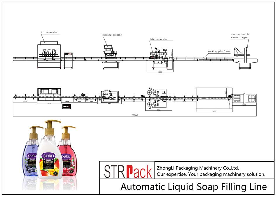 Linya sa Pagpuno sa Suga sa Liquid Soap