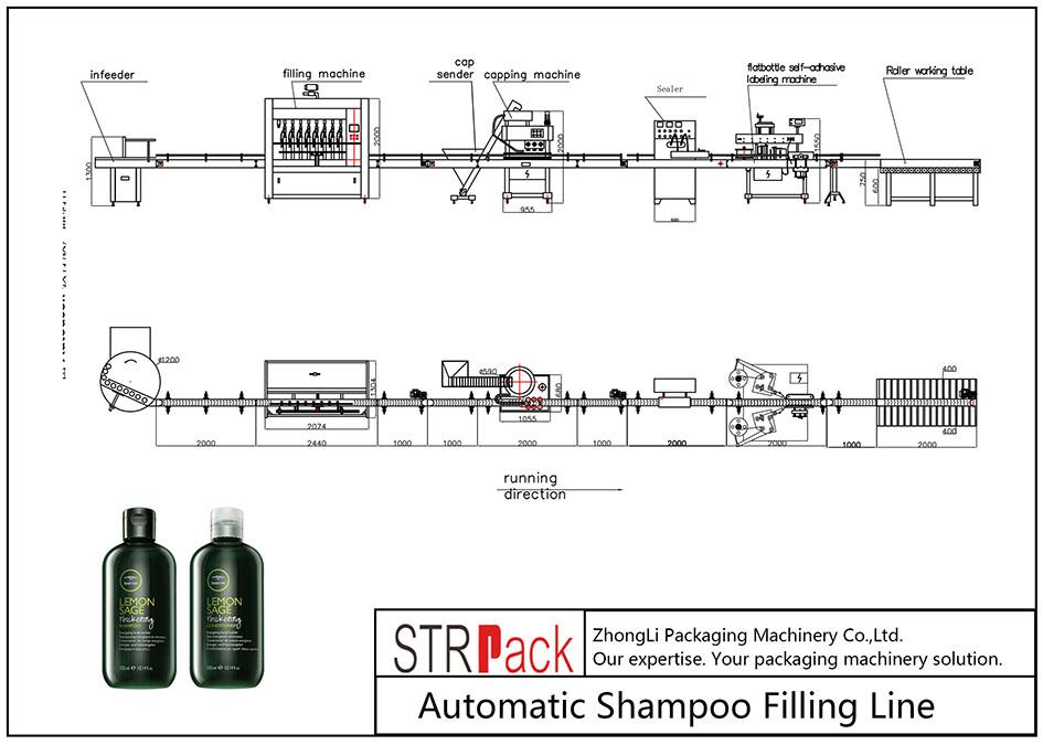 Awtomatikong linya sa pagpuno sa Shampoo