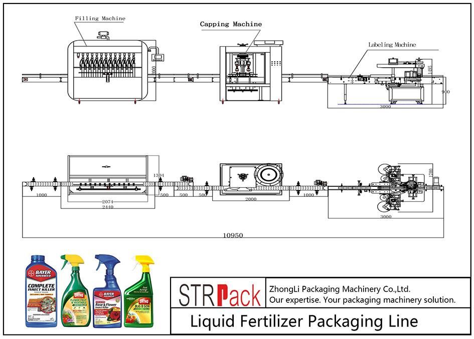 Awtomatikong linya sa pag-ayo sa Liquid Fertilizer