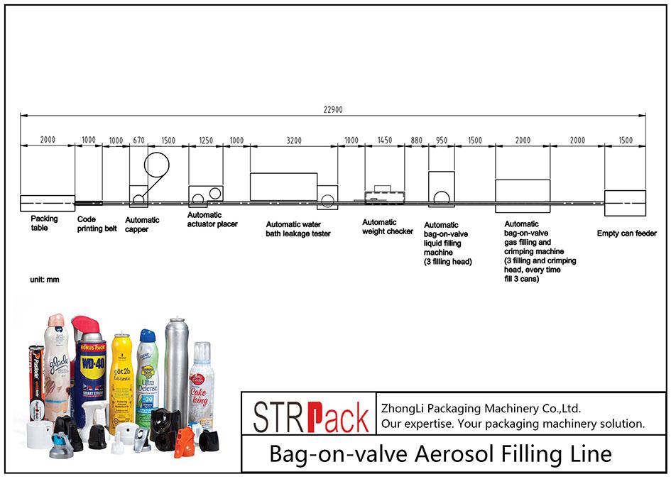Awtomatikong Bag-on-valve Aerosol Filling Machine