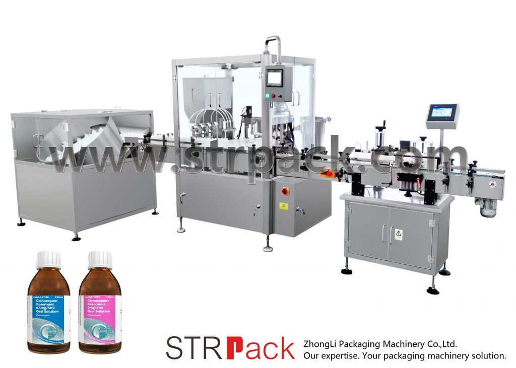Oral Liquid Syrup Filling ug Capping Machine